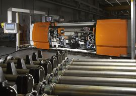 Balancing machine for drive shafts